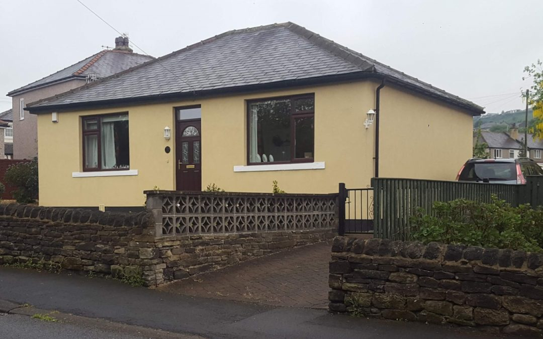 Bungalow Render Job Thackley, Bradford