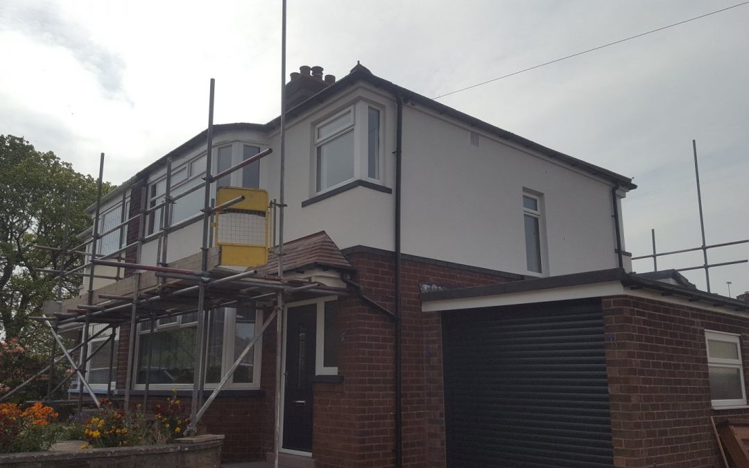Silicone Render Job in Leeds